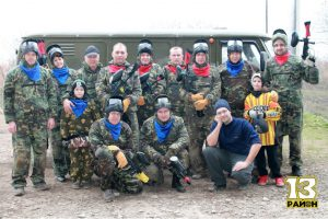 Paintball tournament in honor of the Defender of the Fatherland Day