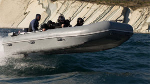 The first inflatable boat with bulletproof protection made of polyethylene was created in Russia